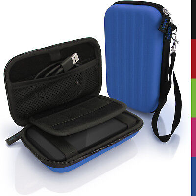 Blue Hard Case Cover Pouch For Portable External Hard Drive 142 X 80.6 X 21.6mm • 8.99£