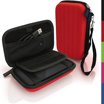 Red Hard Case Cover Pouch For Portable External Hard Drive 160 X 93.5 X 21.5mm • 8.99£