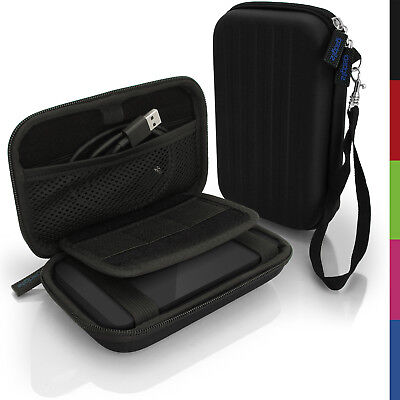 Black Hard Case Cover Pouch For Portable External Hard Drive 142 X 80.6 X 21.6mm • 8.99£