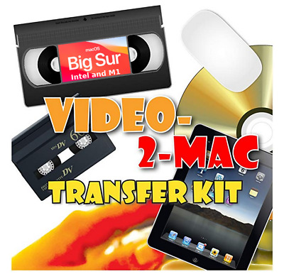 Copy / Convert / Transfer VHS & Hi8 Camcorder Video Tapes To Mac OS Mojave • 39.95£