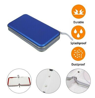 CD DVD Carry Case Disc Storage Holder CD Sleeve Wallet Ideal For In Car BLUE • 6.75£
