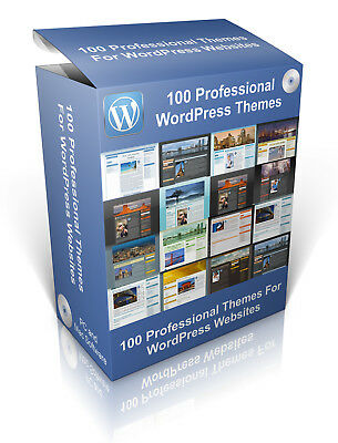 100 Professional Themes For WordPress Websites, Design Your Own Websites. • 2.49£