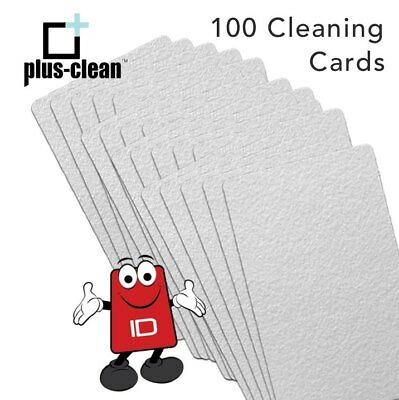 Thermal Printer Cleaning Cards CR80 Sized, Isopropyl Alcohol Pack Of 100 • 37£