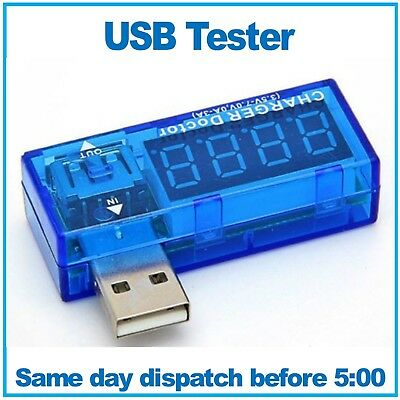 USB Charger Tester. USB Charger Doctor. Tests Voltage And Current. • 2.69£
