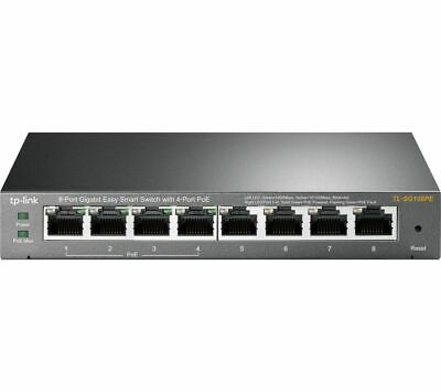 TP-LINK TL-SG108PE Managed Network Switch - 8 Port - Currys • 59.99£