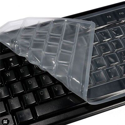 1x Universal Silicone Desktop Computer Keyboard Cover Skin Guard Protector • 2.09£