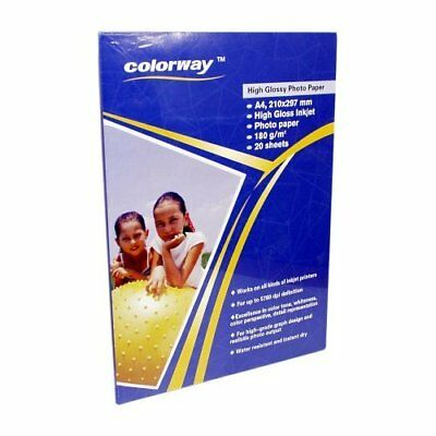 Colorway Glossy Photo Paper A4 180g - 40 Sheets • 4.99£