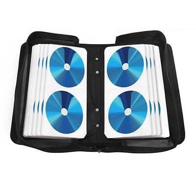 120 Sleeve CD-DVD Blue Ray Disc Carry Case Holder Wallet Storage Ring Binder UK • 7.89£
