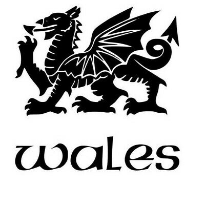 Welsh Dragon Large Vinyl Decal / Sticker • 4.49£