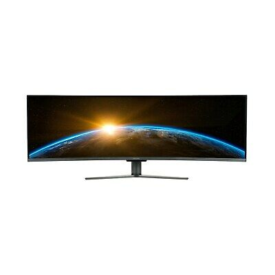 ElectriQ 49 Inch Double Full HD UltraWide Monitor FreeSync Curved • 648.97£