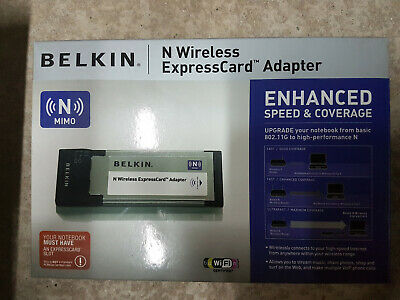 New Belkin N Wireless ExpressCard Adapter (F5D8073uk) • 20£