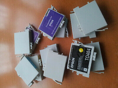 28 Empty Used Epson Compatible Cartridges Type T0481-486 Mixed • 9.50£
