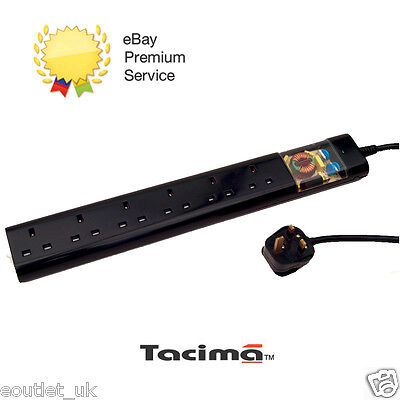 Tacima CS947 6 Way UK Mains Conditioner Surge Protection Interference Filter 2M • 34.99£