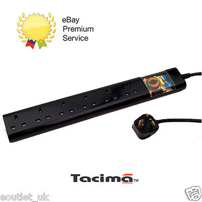 Tacima CS947 6 Way UK Mains Conditioner Surge Protection Interference Filter 2M • 38.75£