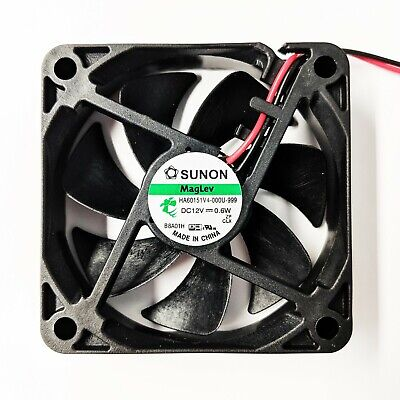 Best Low Noise PC Cooling Fan 60mm Computer Cooler 12V Sunon MagLev New UK STOCK • 4.99£