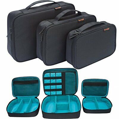 ButterFox 3 Pieces Universal Accessories Storage Travel Organiser • 14.99£