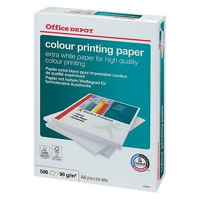 90gsm Extra White A4 Colour Printing Paper 500 Sheets 100 G/m2 7815156 Split M5 • 7.99£