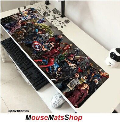 SuperHeroes Extra Large Gaming Mouse Mat Pad Non-Slip F PC Office Laptop 80x30cm • 16.95£