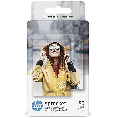 50 Sheets HP Sprocket ZINK Sticky Backed Photo Paper 2 X3  For Sprocket Printers • 25.95£