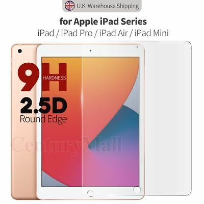 Tempered Glass Screen Protector For IPad 7th 6th 5th 10.2  9.7  Pro 2 3 Mini Air • 3.94£