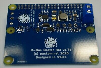 M-Bus Master Hat For Raspberry Pi - MBus Meter-Bus Reader • 35£