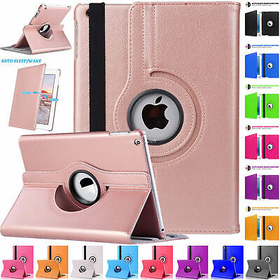 Leather Rotating Stand Case Cover For Apple IPad 7th 8th Generation 10.2 2020/19 • 4.99£