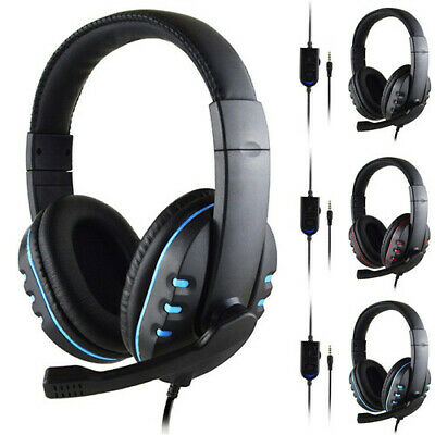Gaming Headset Stereo Surround Headphone 3.5mm Wired Mic For PS4 Laptop Xbox One • 10.99£