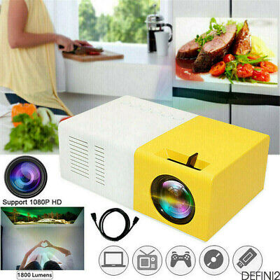 3000 Lumens 1080P Mini Projector PortableHome Theater Cinema USB HDMI AV SD 4K • 28.99£