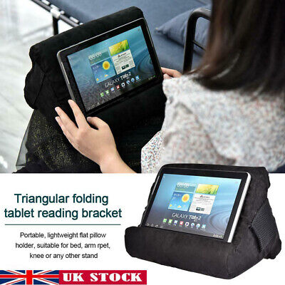 Multi-Angle Laptop Holder Tablet Pillow Stand Cushion For IPad Bed Soft Foam • 12.29£
