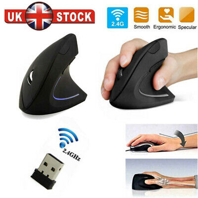 Wireless Mouse Ergonomic Design Vertical Optical Mouse Mice For Computer Laptop • 8.99£