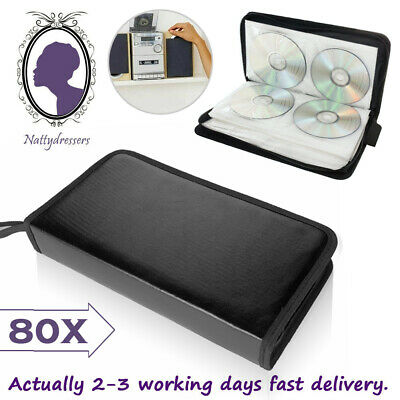 80x Car Storage Holder Case Wallet Organizer Portable Disc CD VCD DVD Carry Bag • 6.49£