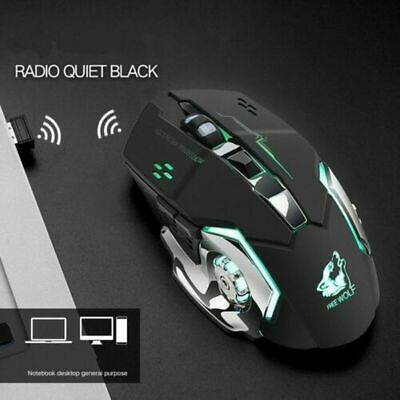 Gaming Mouse Mice Wireless Laser PC For Laptop Computer Silent Rechargeable  • 8.99£