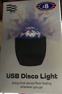 USB Rechargeable Disco Light Brand New Stocking Filler Christmas Gift • 5.99£