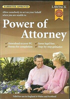 Power Of Attorney ~ Pc Cd-rom Lawpack. Barrister Approved • 3.99£