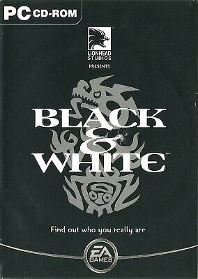Black & White - Find Out Who You Really Are. ~ A Pc Cd Rom • 1.99£
