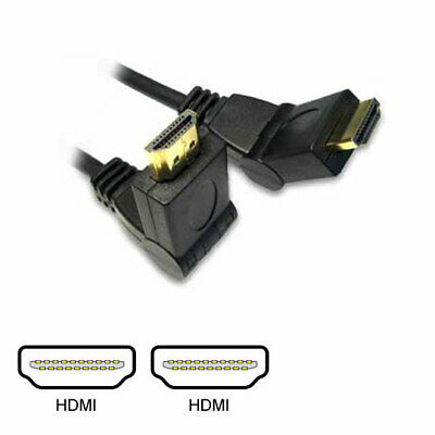 3m Scan HDMI Cable, Swivel Ends - HDMI (Male) To HDMI (Male), Black      • 10.38£