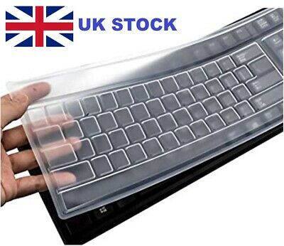 Universal Desktop Keyboard Protective Skin Silicone Protector Cover Clear Film  • 2.99£