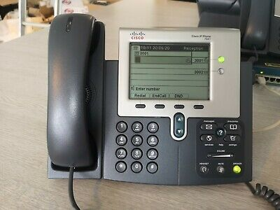 Cisco IP Phone 7941 VoIP PoE SIP Unlocked Factory Reset • 12£