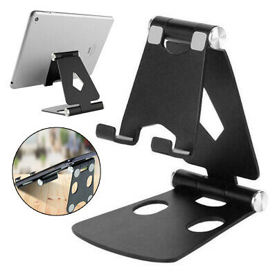 Adjustable Aluminum Mount Stand Holder For IPad Air Samsung IPhone Tablet Desk • 6.74£