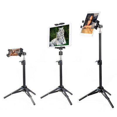 Universal Table Tripod Mount Stand 360 Holder For IPad IPhone Tablet Studio Show • 15.95£