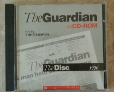 1996 The Guardian The Observer On CD Rom Computer Windows 3.1  • 10£