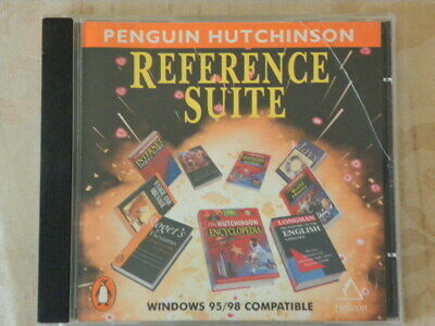1998 Penguin Hutchinson Reference Suite CD Rom Computer Windows 95/98 • 10£