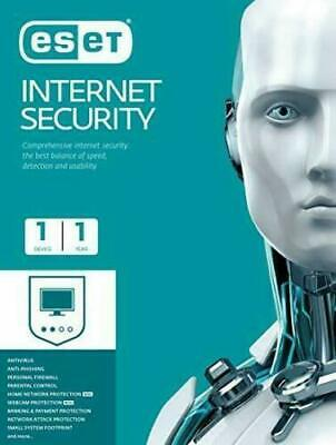 ESET Internet Security  Antivirus Software Global License For 1 Year  1 PC,  • 6.99£