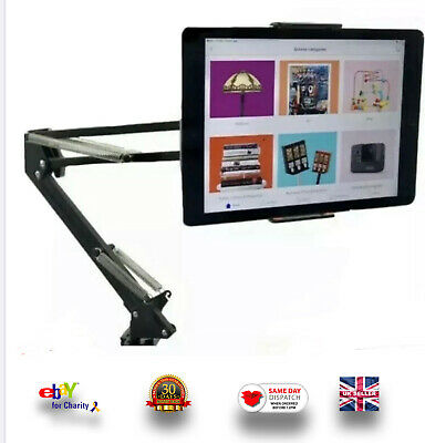 Heavy Duty Universal Gooseneck Mobile Phone Tablet Holder Bed Desk Clamp  • 19.25£