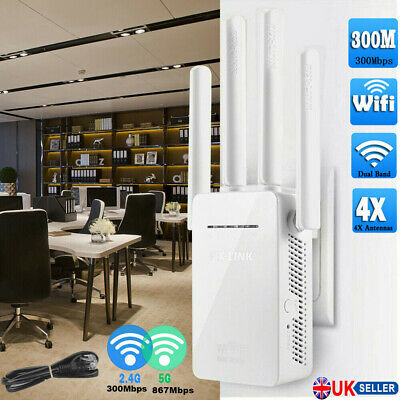 WiFi Range Extender Signal Booster 300Mbps Internet Wireless Routers Repeater UK • 14.55£