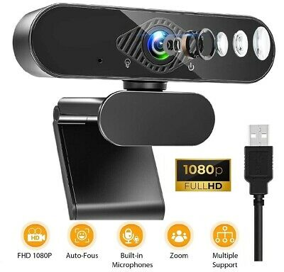 1080P Full HD Streaming Webcam With Microphone For PC Video Calling Conference • 17.99£