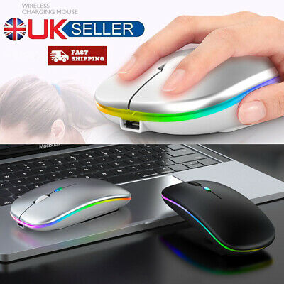 2.4GHz Optical Mouse 1600dpi USB Rechargeable Wireless Ultra Slim For PC Laptop • 6.49£