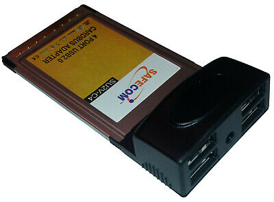 4 Port USB 2.0 CardBus / PCMCIA Adapter For Laptop • 9.99£