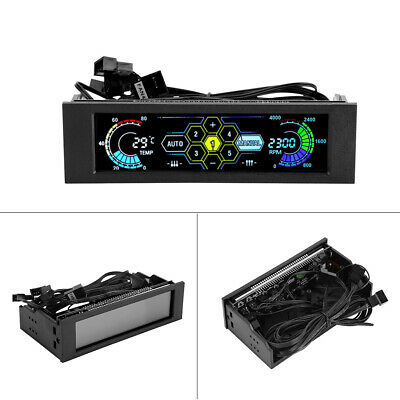 5-Fans Controller CPU Sensor Computer Cooling Drive Bay Front LCD Panel • 24.50£
