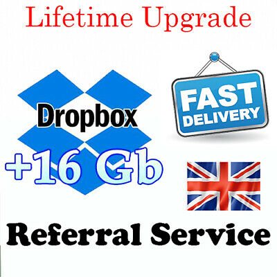 Dropbox 18GB Lifetime Upgrade Permanent Space Friends Referral Service • 3£